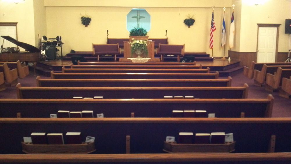 Interior of Faith Baptist, Walterboro, SC